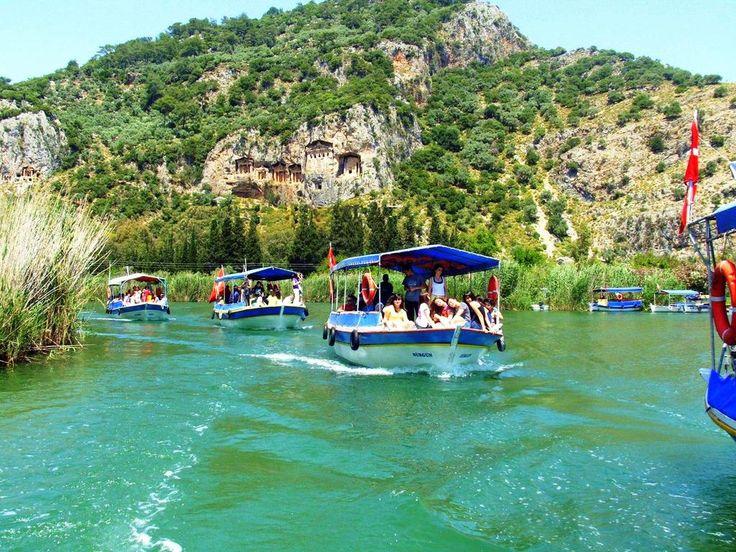 Boat trip along the #Dalyan river