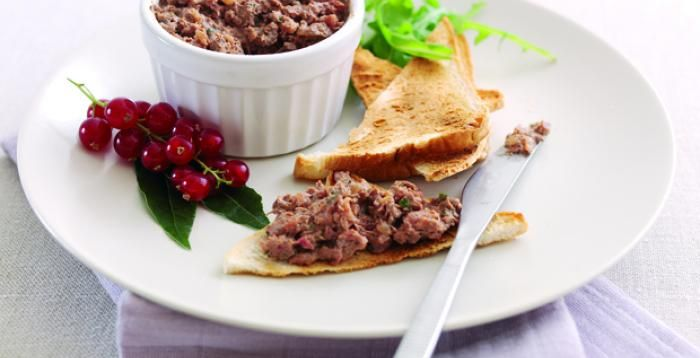 Coarse Ox Liver Pate recipe. Easy to make at home.
