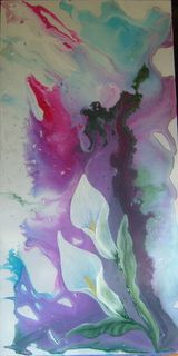 Art,Paintings,Acrylic,Poured,Floral,Abstract Poured acrylics