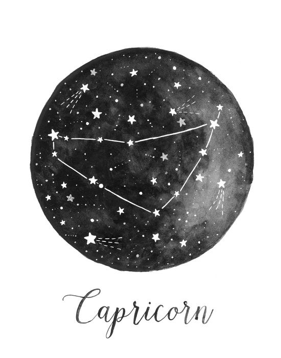 Capricorn Constellation Art Print