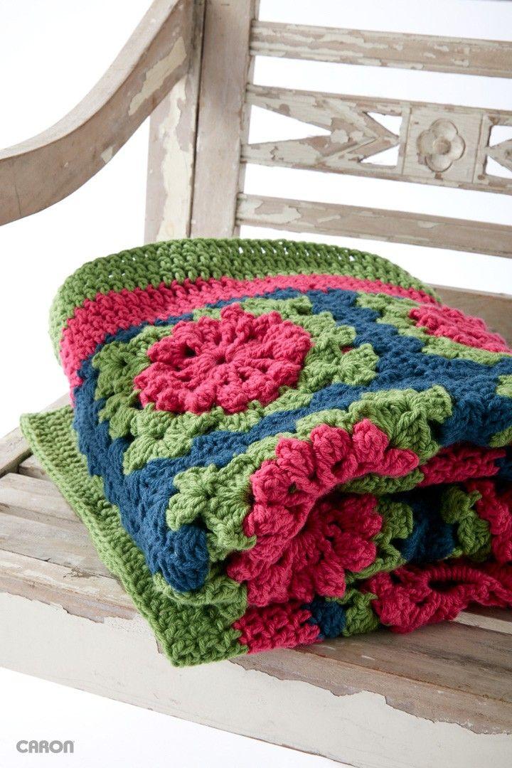 Petal Pops Blanket - Free Crochet Pattern - (yarnspirations)