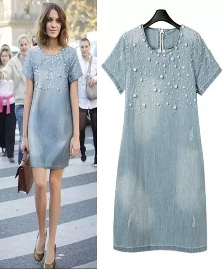 12 Denim Dresses For The Smart Casual Look #Style https://seasonoutfit.com/2018/03/08/12-denim-dresses-smart-casual-look/