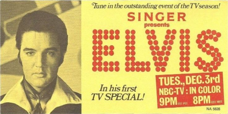 Ad for the 1968 NBC-TV special: Singer presents Elvis Photo courtesy eBay