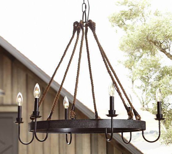 wine barrel lighting. napa wine barrel chandelier pottery barn lighting