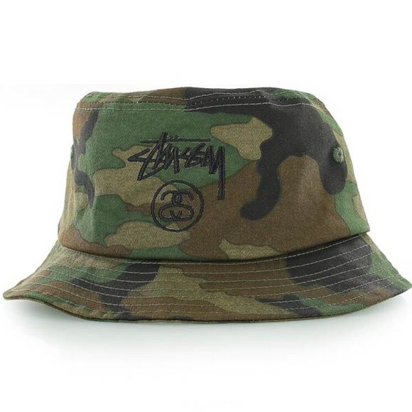 Stussy Stock Lock Bucket Hat  Cute camo bucket hat ☘ Stussy Accessories Hats