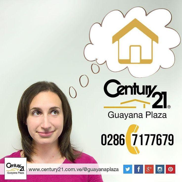 Pensando en la casa que deseas? Estás a un paso de encontrarla llama ahora al 0286-7177679 #Century21 Guayana Plaza  #BienesRaíces #inmobiliario #compra #venta #alquiler #oficina #local #casa #apartamento #terreno #Venezuela #Guayana #pzo #pzocity #C21