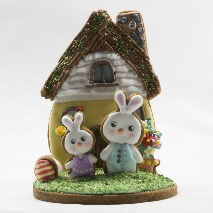 Easter egg house combined a big egg cutter with the roof of a house cutter.