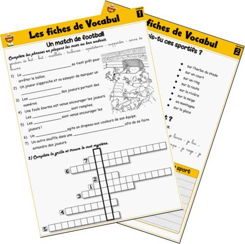 Les fiches de Vocabul ateliers vocabulaire autonome ce2