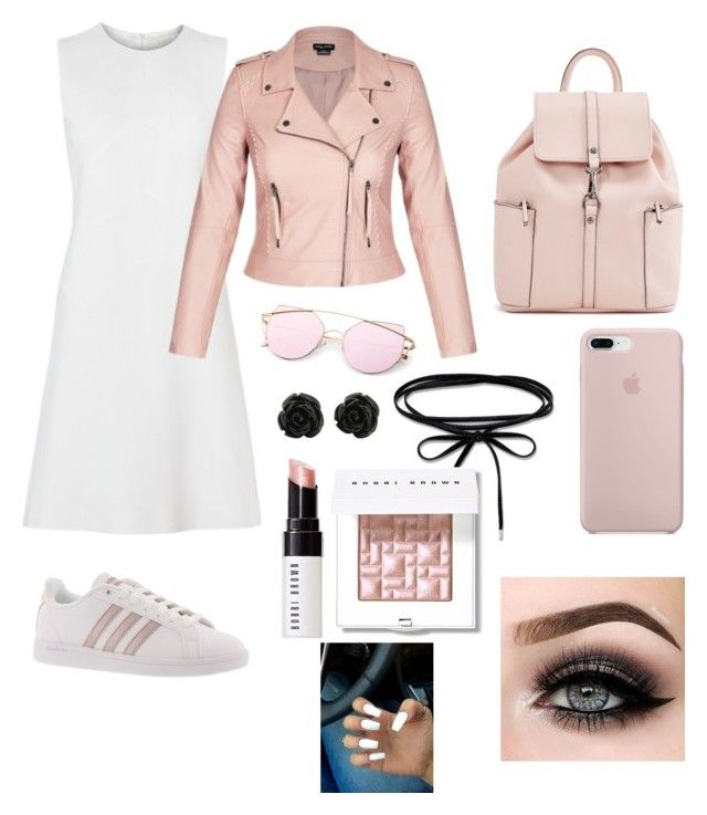 """Pink"" by ellag130 on Polyvore featuring adidas, Bobbi Brown Cosmetics and ASAP"