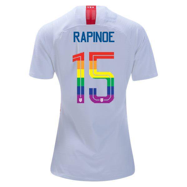 reputable site ca8b2 10baa 2018/2019 Home Megan Rapinoe Women's PRIDE Soccer Jersey USA ...