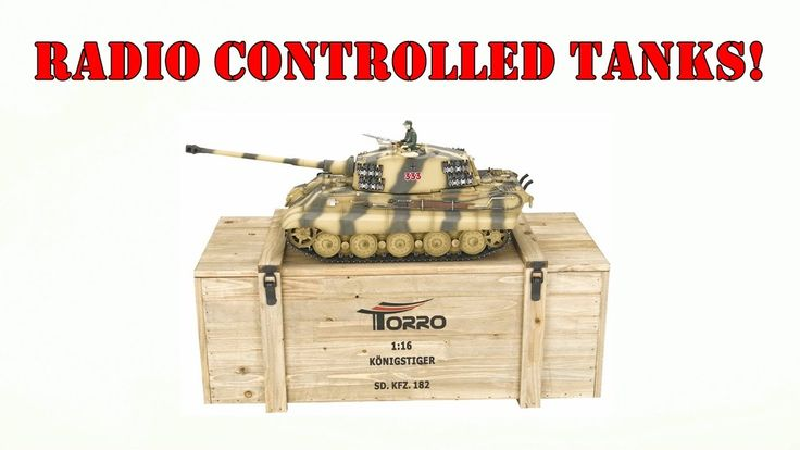 Radio Controlled (RC) Tanks with working guns from Torro-Shop! [Sponsored]