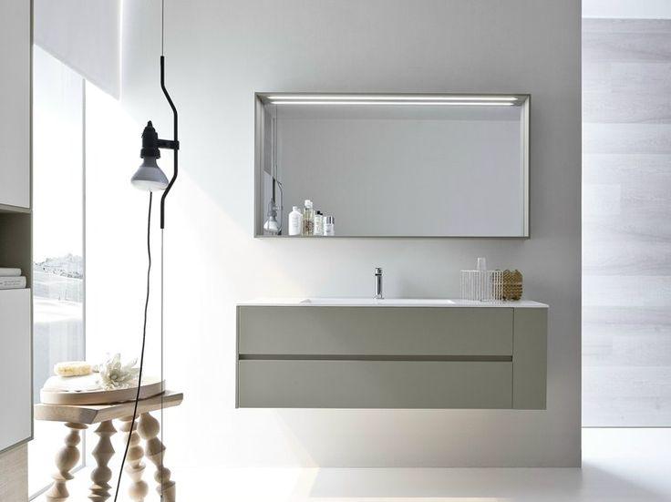 #Napoli #Posillipo #Pozzuoli #Vomero #Fuorigrotta #Bagnoli #Campania #madeinitaly #bagno #mobili #arredo #arredobagno Mobile lavabo con specchio COMP N06 by IdeaGroup