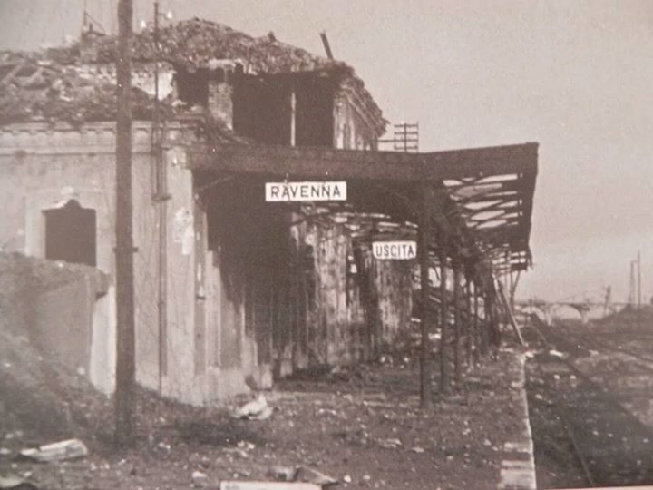 1945: Station of Ravenna after the bombings of World War II. Thanks to Roberto Stanghellini for the picture - Photo by C'era una volta Ravenna on Facebook [ #ravenna #myRavenna]