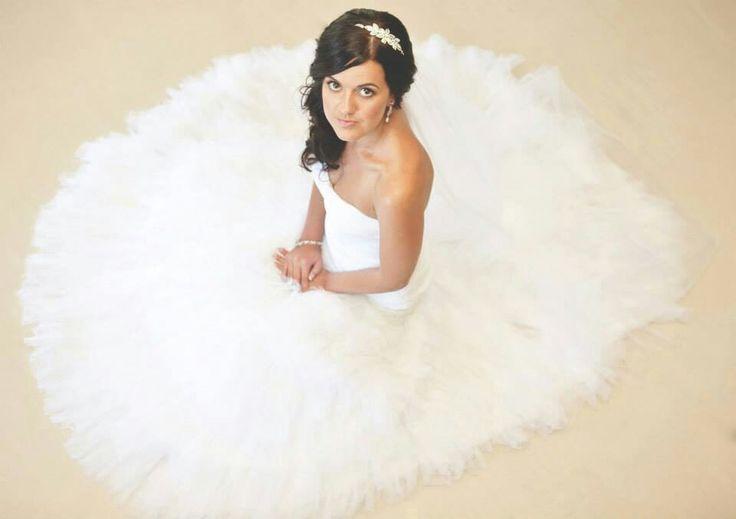 Wedding photography: Bride in white wedding dress