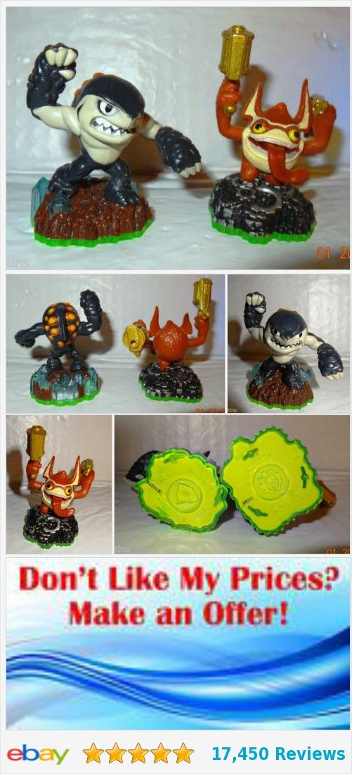 Skylanders Terrafin Shark & Trigger Happy Loose Action Figures Lot 2 Pcs NT | eBay http://www.ebay.com/itm/-/253073986667?