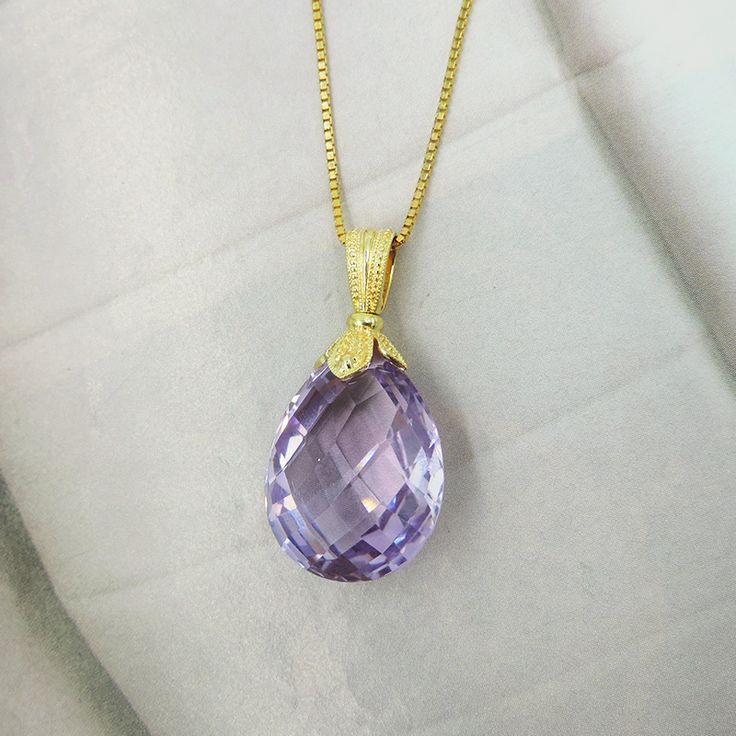 184 best gemstone pendants charms images on pinterest large checkerboard cut amethyst teardrop 14k yellow gold pendant purple yellow purple yellow aloadofball Images