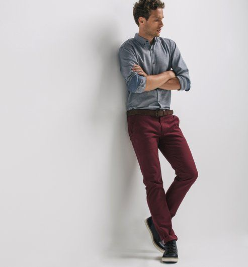 Les 25 meilleures id es de la cat gorie tenue de pantalon bordeaux sur pinterest pantalon - Que mettre avec un jean bleu ...