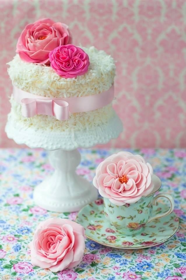 Coconut Cake & Roses by stacy - LoveThisPic