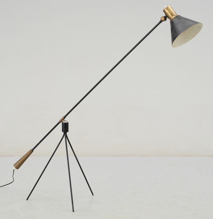 Gilbert watrous brass and enameled steel floor lamp for bergboms 1950s beautiful mid mid century modern lampsmid