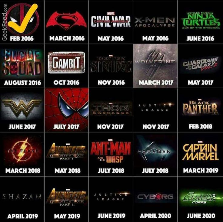Yes, yes, yes!!! All superhero movies coming out in the next few years!!!!! <3