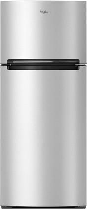 """WRT518SZFM 28"""" Top Freezer Refrigerator with 17.64 cu. ft. Capacity LED Interior Lighting Flexi-Slide Bin Electronic Temperature Control and Frameless Glass Shelves in Stainless Steel"""