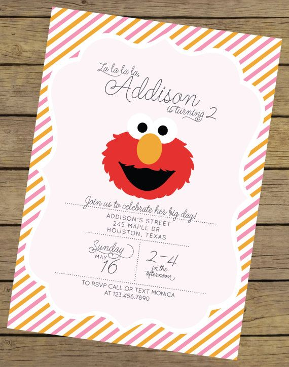 25+ best ideas about elmo invitations on pinterest | elmo party, Birthday invitations