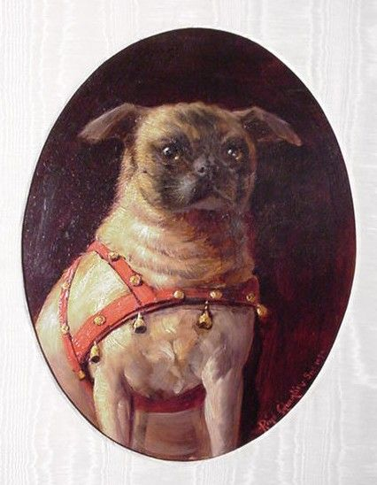 Enchanted by Josephine - History Salon: A Favourite Royal Companion. Josephine loved pugs as well. Her beloved Fortuné was so attached to her that he just wouldn't concede her to Bonaparte; not even on the couple's wedding night…Story has it that Fortuné, who always slept in Josephine's bed, refused to share this comfort, or his beloved, with Napoleon. There was a minor confrontation between pug and 'beau'. Napoleon may have won that battle, but not without injury to his leg!