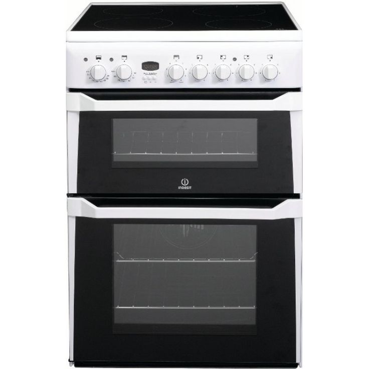 60cm Ceramic / Electric Freestanding Double Oven by Indesit (ID60C2W)   Features:  Twin Cavity Design Cooling Fan Electronic 3 Button Minute Minder European B Class Energy Rating Element