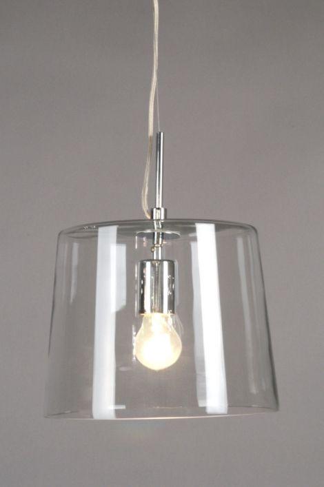 #Rietveldlicht.nl hanglamp 70129: modern, klassiek, glas, helder glas, rond ...