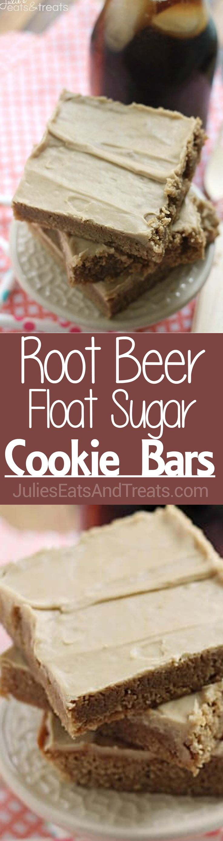 Root Beer Sugar Cookie Bars ~ Soft, Chewy Sugar Cookie Bars that Taste Like a Root Beer Barrel!  via @julieseats