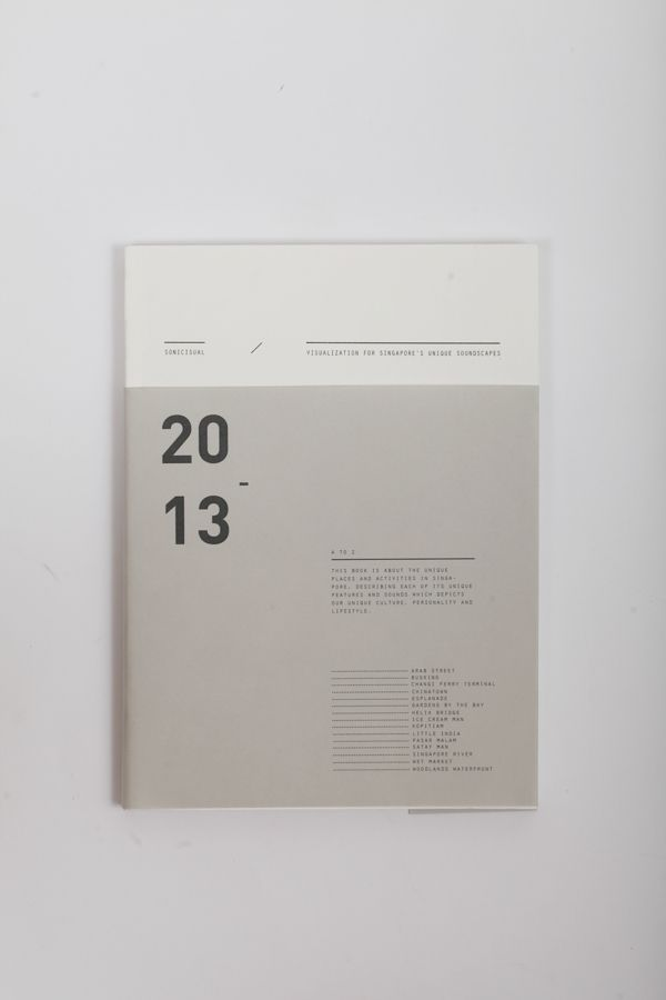 Sonicisual by Valerie Ng, via Behance | Beautiful cover layout and nice neutral color palette