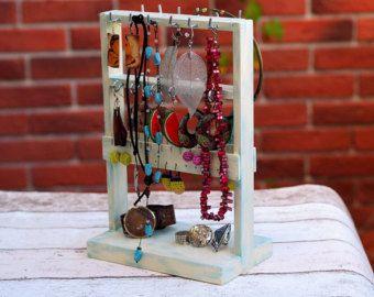 Sieraden houder, sieraden Decor cadeau, ketting houder, tiener kamer Decor, sieraden Hanger, Keeper van de sieraden, Earring opslag, sieraden vitrine