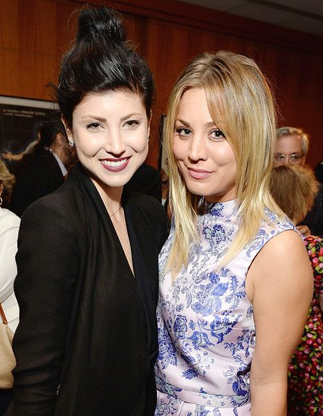 Kaley Cuoco and her younger sister, Briana.