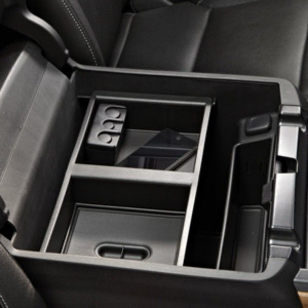 2016 #Silverado 1500 Front Floor Console Organizer: Make better use of the front center console storage bin with this removable Front Floor Console Organizer. Designed for an exact fit, this organizer transforms the tall bin into a two-tiered storage compartment. Larger items can be stored below the organizer, while smaller items, such as CDs, DVDs, cell phones, etc. can be stored in the organizer itself.