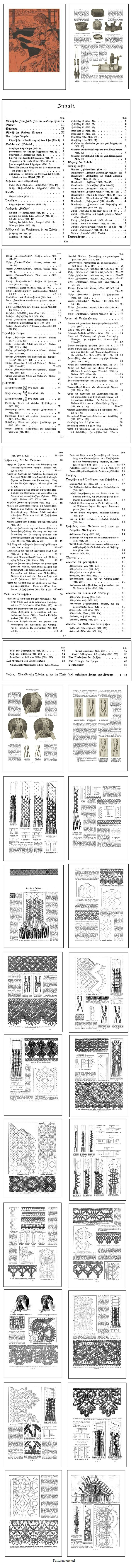 CD ROM Title:  German Bobbin Lace Making, 1898.     This publication is in German language. Though this is not in English, the impressive illustrations and patterns make it a worthy addition to our selection of bobbin lacemaking related CD titles. Click on the image for more information