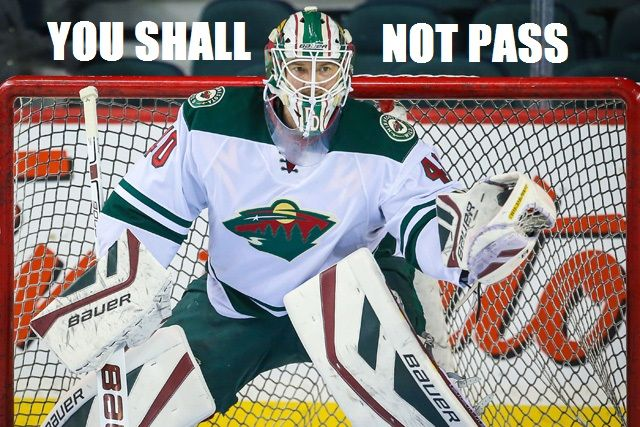 This just needed to be made, so I made it. :)[Devan Dubnyk, Minnesota Wild.]