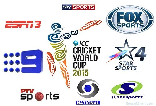 Finding where to watch 2015 cricket world cup? Then get a list of broadcasters and TV channels who will telecast live cricket matches of ICC world cup 2015.