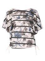 Womens *Izabel London Multi Coloured Batwing Top- White