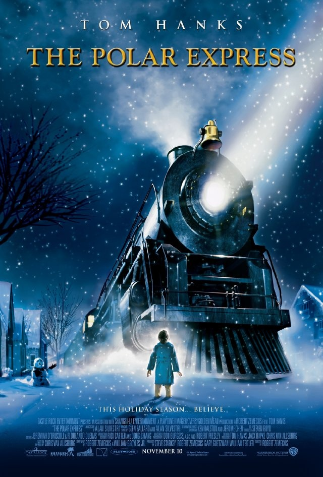The Polar Express (2004) A young boy's faith in the holiday spirit is revived after he makes his way by train to the North Pole on Christmas Eve in this warm-hearted computer-animated tale inspired by Chris Van Allsburg's award-winning children's book. Cast: Tom Hanks...11a