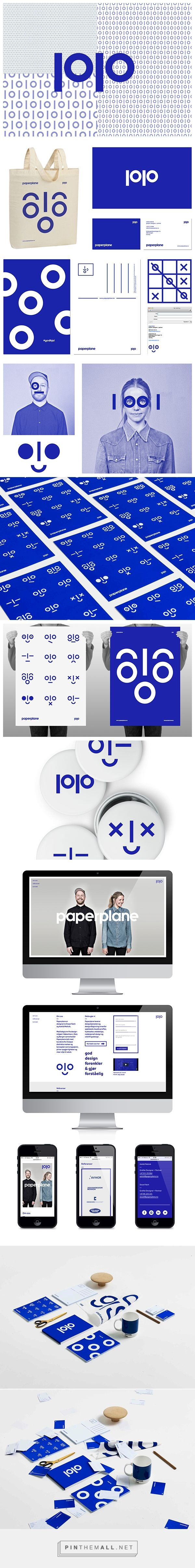 Visual identity for Paperplane on Behance - created via http://pinthemall.net