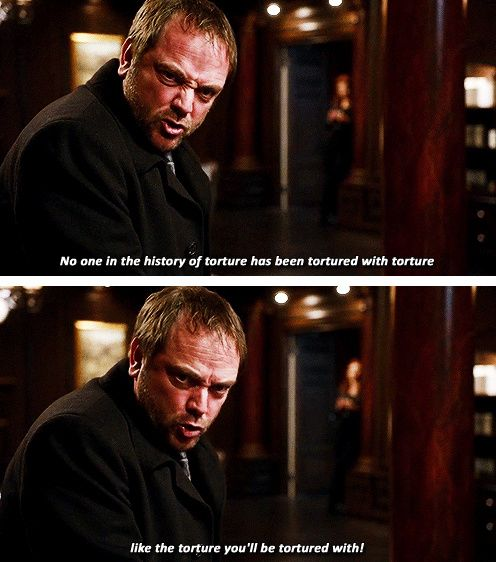 [GIFSET] 9x21 King Of The Damned... You don't double cross Crowley and live to tell the tale!