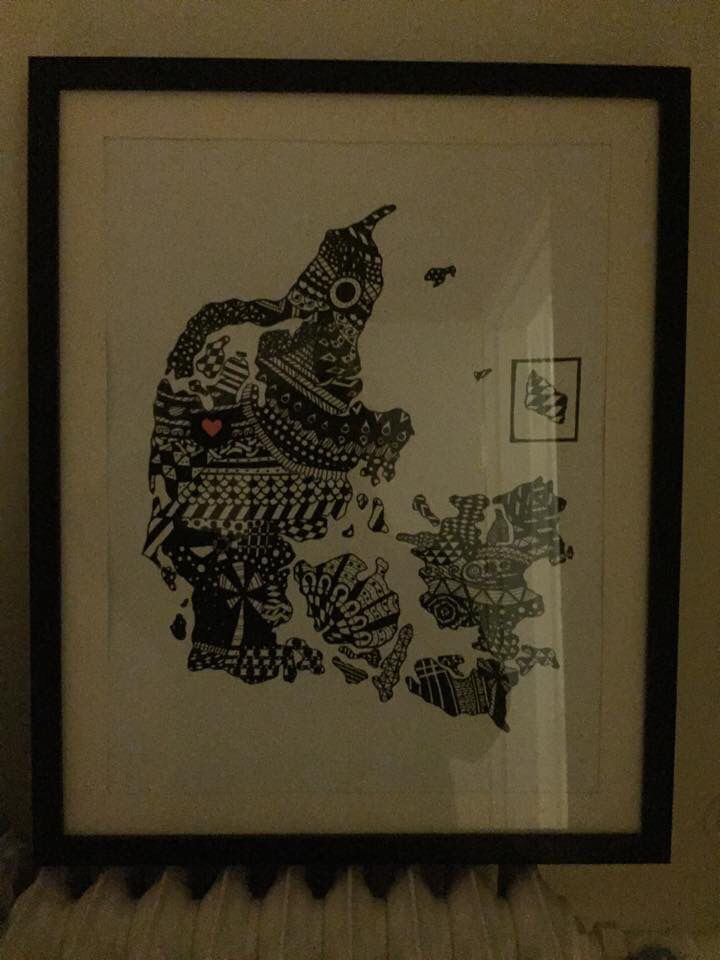 Zentangle art  - Denmark - weddinggift for er friend.  #PLKdesign