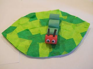 Cute art idea for The Very Hungry Caterpillar by Eric Carle