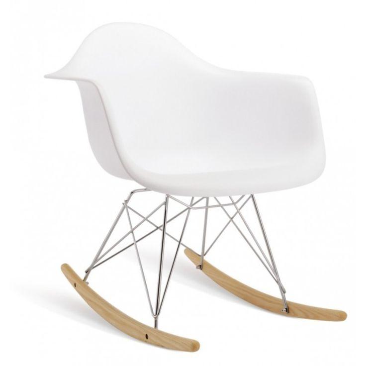 Fauteuil Rocking Chair TENDANCE 6 à tout petit prix aux belles lignes organiques et fluides.Outre son design étonnant, son créateur Charles Eames, n'en a pas oublié le confort.
