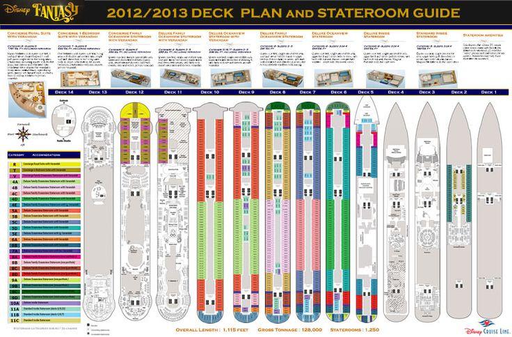 New Disney Fantasy deck plan...