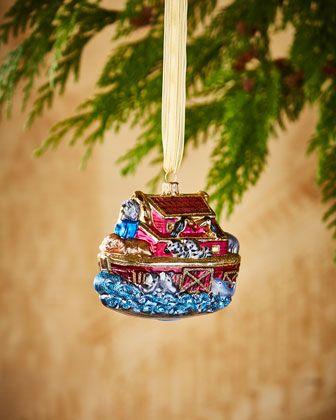 Noah\'s Ark Ornament  at Neiman Marcus.