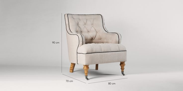 Swoon Editions Armchair, modern country style in oatmeal - £479