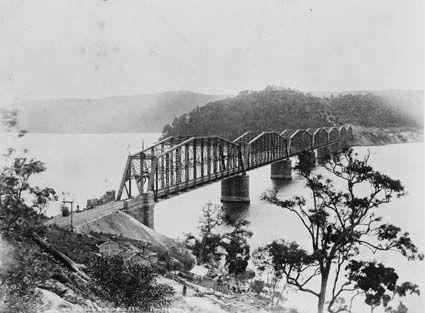 Hawkesbury River railway bridge  Date : 1890