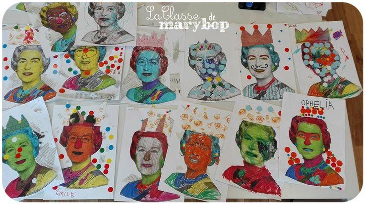 Portraits de la reine Elisabeth. - La Classe de Marybop