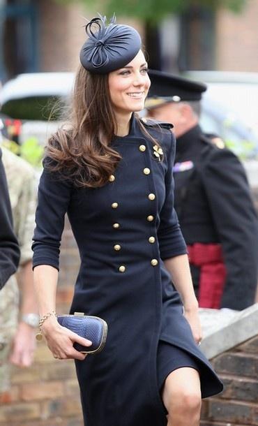 Alexander McQueen navy military coat dress: Jacket, Duchess Of Cambridge, Fashion, Style, Katemiddleton, Kate Middleton, Princess Kate, Coat